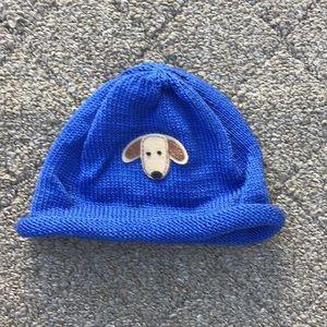Baby boy blue knit hat